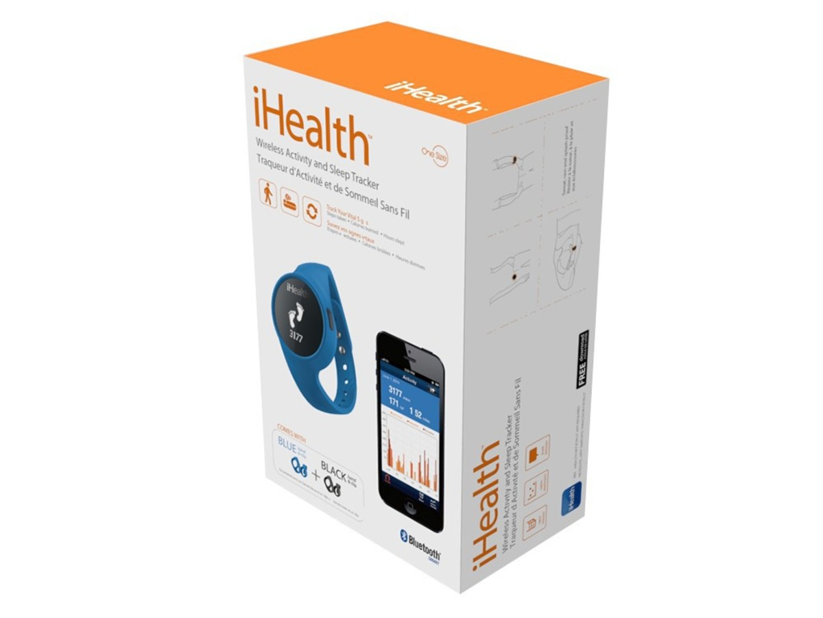 Bild 4 von iHealth Activity & Sleep Tracker, für iPad/iPod/iPhone, Bluetooth, schwarz/blau
