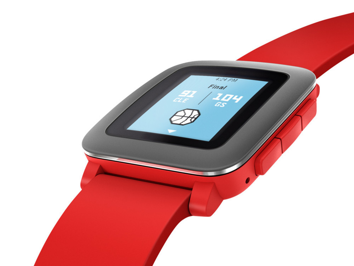 Bild 4 von Pebble Time, Smartwatch & Fitnesstracker für iOS/Android, Bluetooth 4.0, rot