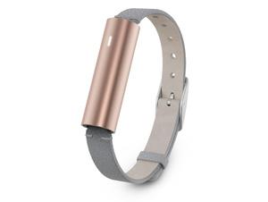 Misfit Ray, Aktivitätstracker, mit grauem Lederarmband, Bluetooth, roségold