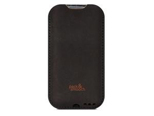 Pack & Smooch Kingston, Schutzhülle für iPhone XS/X, Leder/Filz,anthrazit-braun