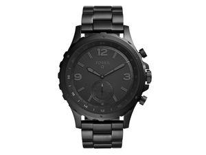 FOSSIL Q Nate, Hybrid Smartwatch, Edelstahl, schwarz