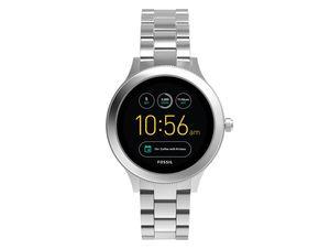 FOSSIL Q Venture, Damen Smartwatch, Edelstahl, silber