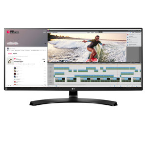 LG 34UM88-P - 86,4 cm (34 Zoll), LED, IPS-Panel, UltraWide QHD, AMD FreeSync, Höhenverstellung, Thunderbolt