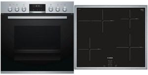 Bosch HND615LS65 Geräte-Set mit Induktionskochfeld edelstahl + edelstahl / A