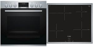 Bosch HND615LS60 Geräte-Set mit Induktionskochfeld edelstahl + edelstahl / A