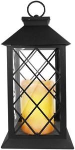 EAXUS Romantische Laterne mit LED Kerze schwarz