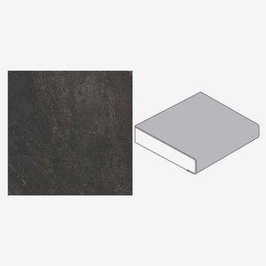 Küchenarbeitsplatte 4100 x 600 x 39 mm Bronzit schwarz