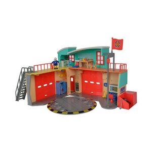 SIMBA  Feuerwehrmann Sam Sam Neue Feuerwehrstation mit Figur