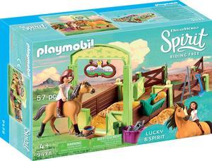 PLAYMOBIL 9478 Pferdebox Lucky und Spirit