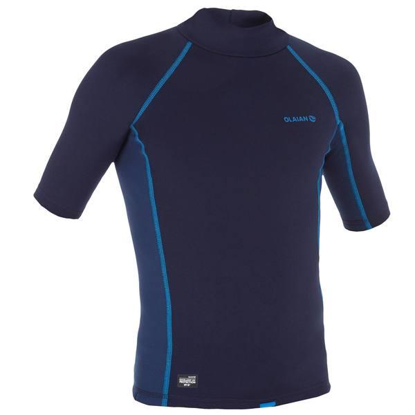 Thermo-Shirt kurzarm UV-Schutz Fleece Kinder blau