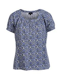 Via Cortesa - gemustertes Shirt aus reiner Baumwolle