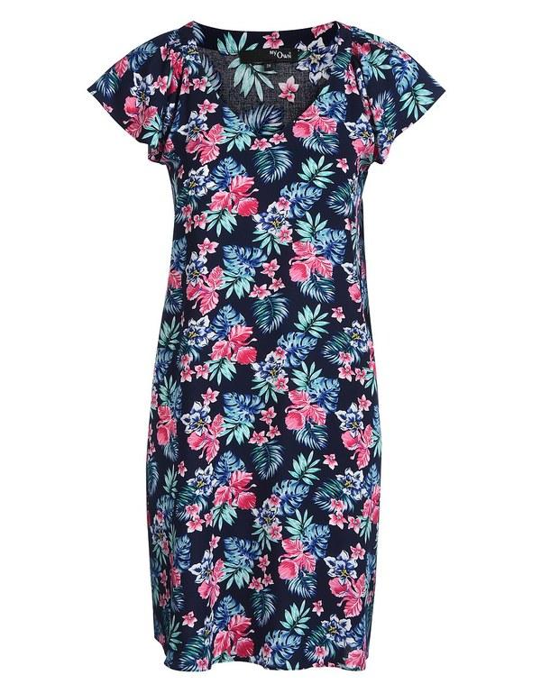 My Own - Kleid mit kurzen Cape-Ärmeln von Adler ansehen!