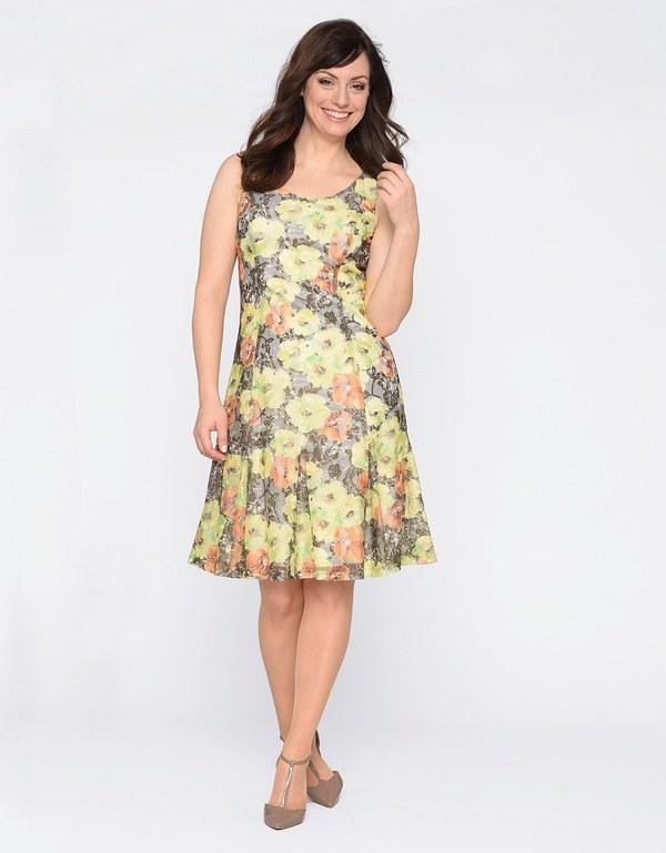 steilmann - kleid aus floral bedruckter mesh-spitze von