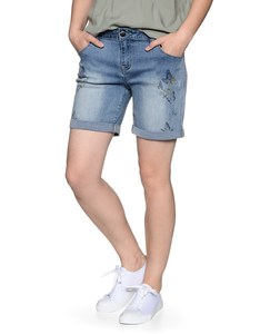 My Own - Jeans-Shorts mit Schmetterlingsdruck