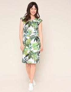 Steilmann - Baumwoll-Kleid mit Blätterdruck