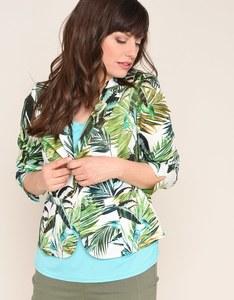 Steilmann - Baumwoll-Kleiderjacke mit Blätterdruck