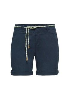 Esprit - Baumwoll-Stretch-Shorts mit Bindegürtel