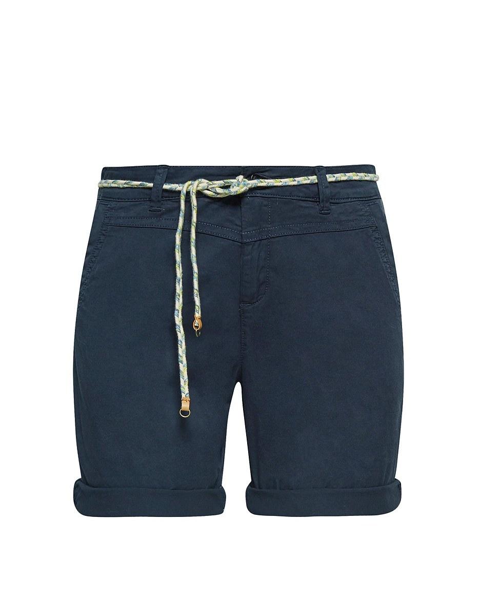 Bild 1 von Esprit - Baumwoll-Stretch-Shorts mit Bindegürtel