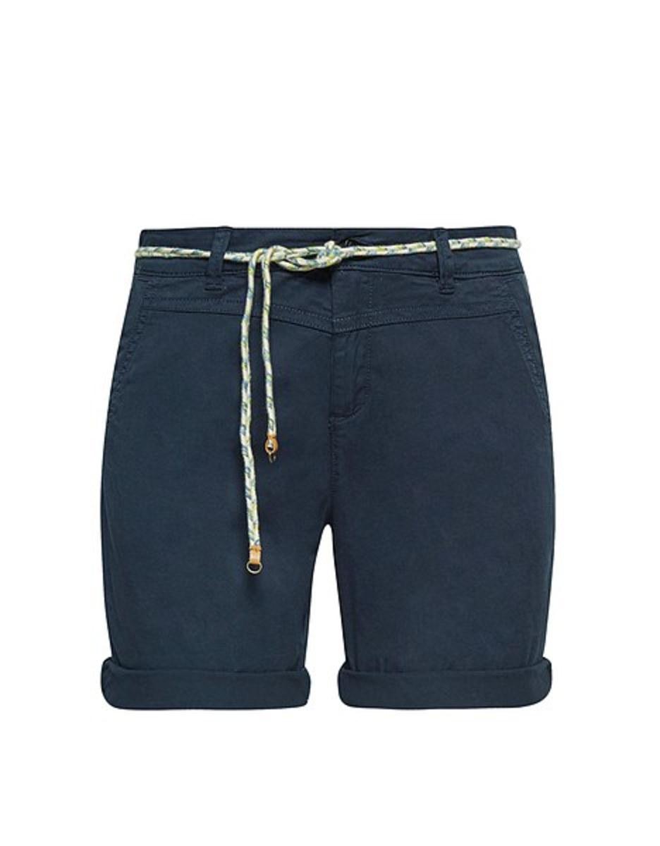 Bild 2 von Esprit - Baumwoll-Stretch-Shorts mit Bindegürtel