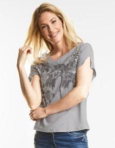 CECIL - Shirt mit Palmendruck