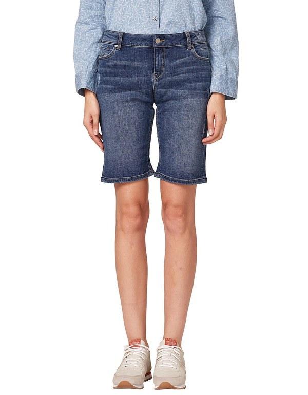 Esprit - Jeans-Shorts mit Destroyed-Effekten