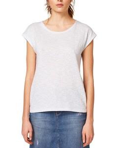 Esprit - Ringel-Shirt mit überschnittener Schulter