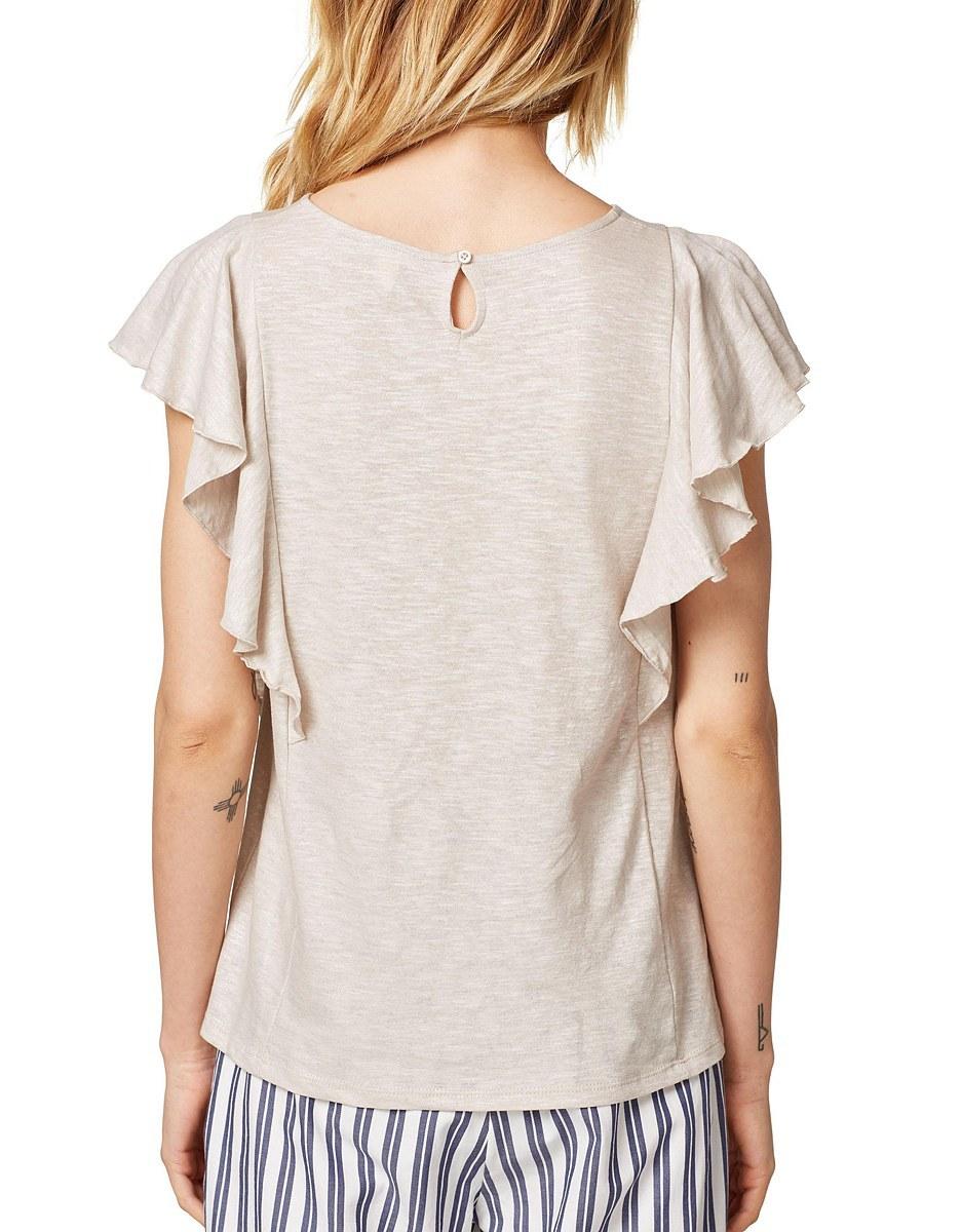 Bild 2 von Esprit - Shirt im Glitzer-Look mit Volants an den Schultern
