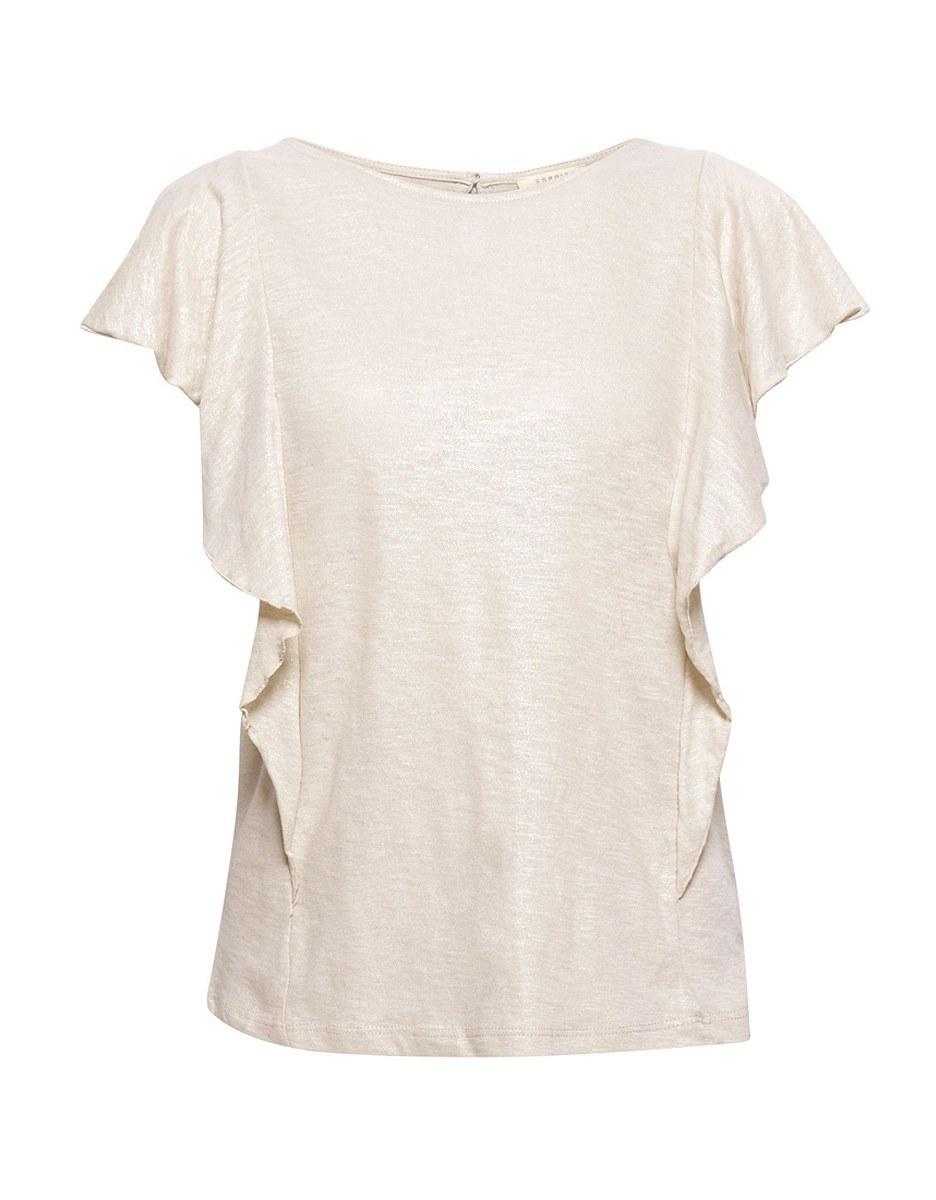 Bild 3 von Esprit - Shirt im Glitzer-Look mit Volants an den Schultern