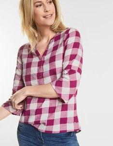 CECIL - Karo-Bluse im Tunika-Style
