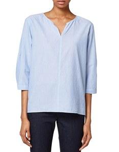 Esprit - Chambray-Bluse aus reiner Baumwolle