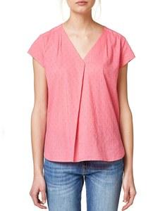 Esprit - Baumwoll-Bluse mit samtigem Punkt-Print
