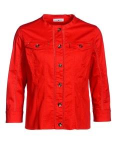 PUNT ROMA - Jacke mit Häkelspitze und goldfarbenen Accessoires