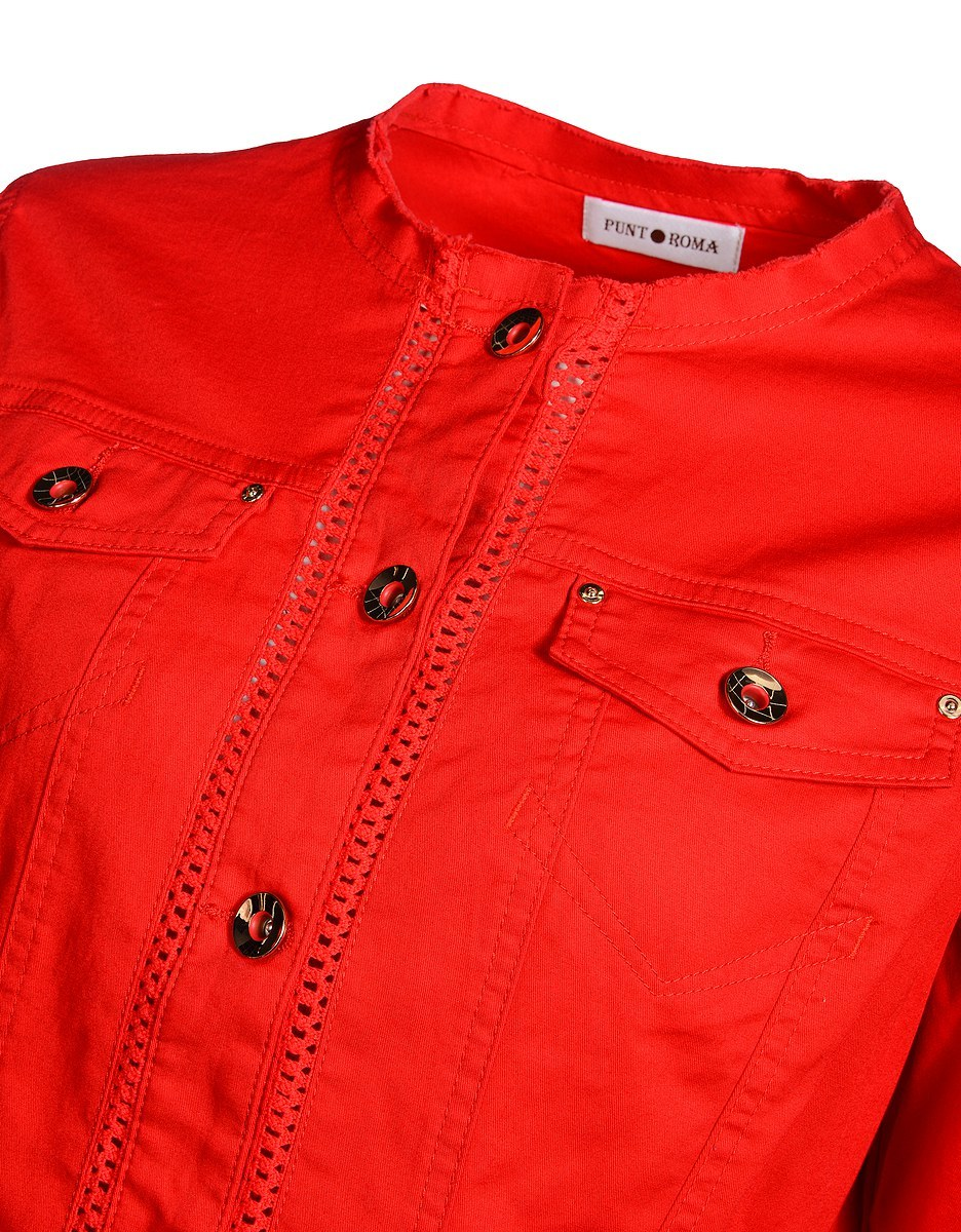 Bild 3 von PUNT ROMA - Jacke mit Häkelspitze und goldfarbenen Accessoires