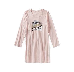 Damen-Nachthemd mit trendigem Frontaufdruck