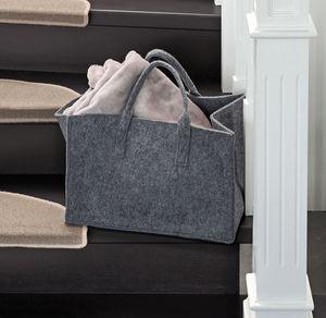 Filz-Tasche mit Tragegriffen, ca. 40x25x25cm