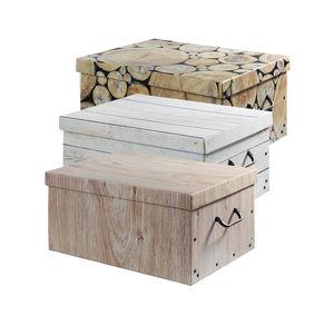 Aufbewahrungsbox in Holzoptik