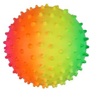 Massageball, genoppt, 10 cm, neon