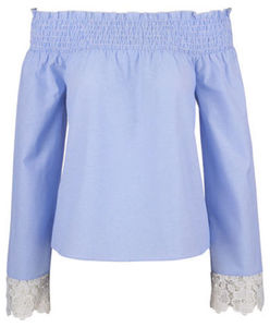 Fashion&Style - Bluse - Spitze, Carmenausschnitt
