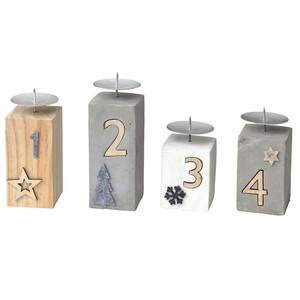 4 Kerzenhalter als Adventskranz