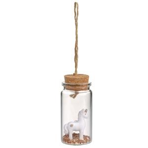 Einhorn Flaschenhänger mit Glitter