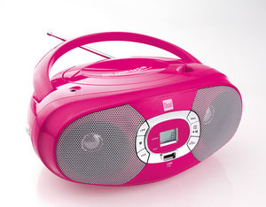 Dual Portable CD-Boombox P390, Pink