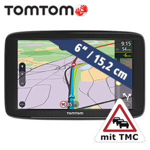 Navigationsgerät Via 62 inkl. Free Lifetime Maps**  · Fahrspurassistent · TMC-Modul im Ladekabel integriert · integr. KFZ-Halterung  **weitere Infos unter www.tomtom.com/de_de/maps/lifetime-maps/