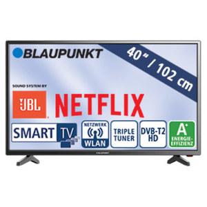 """40""""-FullHD-LED-TV BLA-40/138M H.265, 3 HDMI-/2 USB-Anschlüsse, CI+, Stand-by: 0,5 Watt, Betrieb: 48 Watt, Maße: H 54,1 x B 92,0 x T 8,3 cm, Energie-Effizienzklasse A+ (Spektrum A++ bis E)"""
