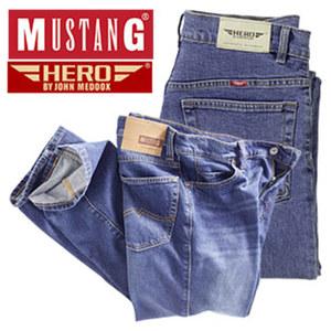 Herren-Jeans Mustang oder Hero by John Medoox verschiedene Modelle, Waschungen und Größen, ab
