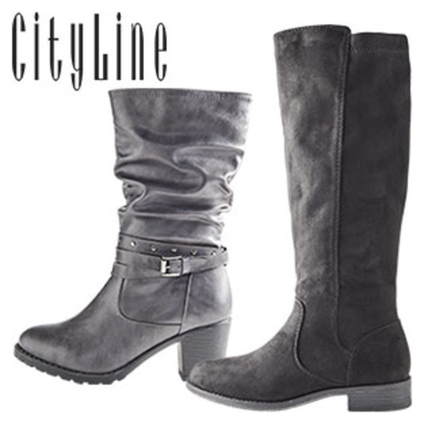 Gr. Damen stiefel Schuhe schwarz CityLine NEU 38