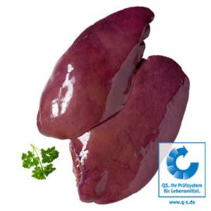 Frische Schweineleber, Schweineherzen oder Schweinenieren je 1 kg