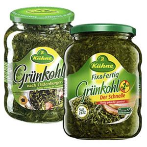 Kühne Grünkohl tafelfertig oder fix&fertig jedes 720-ml-Glas/450/660-g-Abtropfgewicht
