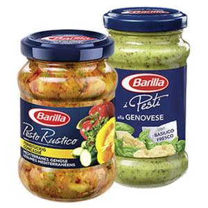Barilla Pesto oder Pesto Rustico versch. Sorten, jedes 175/190/200-g-Glas