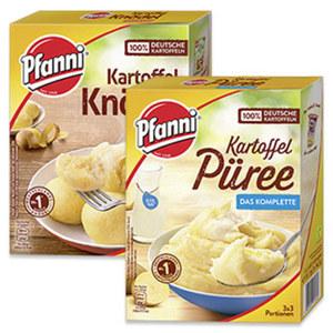 Pfanni Knödel halb & halb 6 Stück im Kochbeutel oder Kartoffelpüree das Lockere 3 x 3 Portionen und weitere Sorten, jede Packung