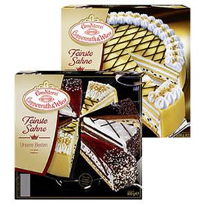 Coppenrath & Wiese Feinste Sahne Unsere Besten oder Marzipan-Torte gefroren, jede 800/1250-g-Packung und weitere Sorten